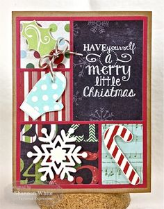 Merry Little Christmas Card by Shannon White #Christmas, #CuttingPlates, #Cardmaking