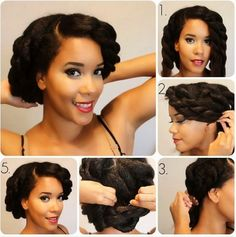 Cute protective style for natural hair.