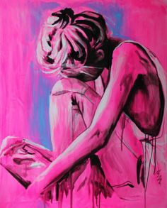 "Saatchi Online Artist Yuliya Vladkovska; Painting, ""feeling blue"" #art"