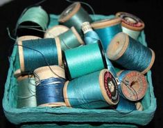 Threads in shades of aqua Shades Of Turquoise, Teal Blue, Shades Of Blue, Verde Tiffany, Azul Tiffany, Turquoise Cottage, Vert Turquoise, My Favorite Color, My Favorite Things