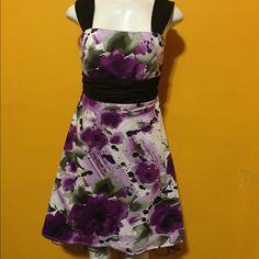 Flower dress Beautiful purple flower dress Dresses Midi