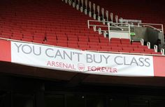 Arsenal Fans put up a banner during the match against Manchester City! True that!