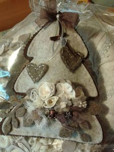 natale albero feltro con fiori - by Luisa Valent