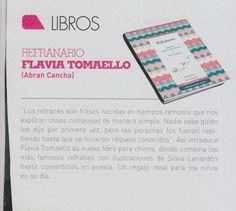 """La revista de Argentina """"Miradas"""" recomienda """"Refranario"""" de ed. Abran Cancha."""