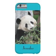 "GREAT SALE!  50% off thru 9/22/14 - use code HURRAY4CASES!!!   iPhone 6 Case, Giant Panda, Scuba Blue  - This case for the iPhone 6 is part of our ""Giant Pandas"" collection, which includes matching gifts, greeting cards, and wrapping paper. What a wonderful complement for your new iPhone. Wonderful gift for panda lovers. Original photograph by Marcia Socolik, taken in Chengdu, China. All Rights Reserved © 2014 Alan & Marcia Socolik. #iPhone6 #Panda #Pandas #GiantPandas"