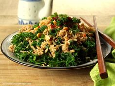 Peanut Butter and Kale Fried Rice - Connoisseurus Veg