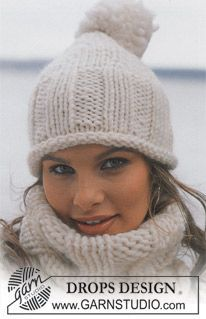 Basic patterns - Free knitting patterns and crochet patterns by DROPS Design Knitting Patterns Free, Knit Patterns, Free Knitting, Baby Knitting, Free Pattern, Bonnet Crochet, Knit Crochet, Crochet Hats, Easy Knit Hat