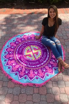 Simply Southern Towel - Mandala from Chocolate Shoe Boutique