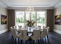 15 Stunning Round Dining Room Tables Dinning table Conversation