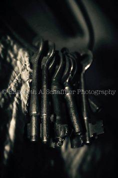 Keys by Elizabeth A. Schaffner Photography  #Photography #Keys #Still #Life #BlackandWhite