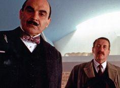 David Suchet as Poirot and Philip Jackson as Chief Inspector Japp