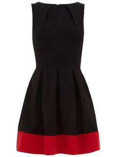 Black contrast hem dress... too bad it is out of stock!
