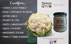Cavolfiore in sugo bianco o crema... #neronitradizioneitaliana #madeinitaly #ciboitaliano #sughipronti #pastafresca #foodporn #foodblogger #salsabbq #zuppa