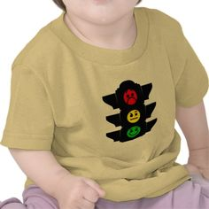 Smiley Traffic Light Infant T-Shirt, Traffic Lights, Smiley Faces, Cool Baby Clothing