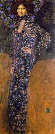 Mona as Klimt's Emilie Floge