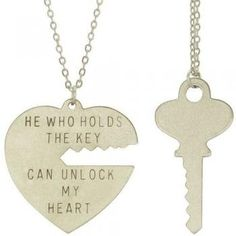 Amazon.com: Key To My Heart Necklace Set with Silver Finish: Cora Hysinger: Clothing