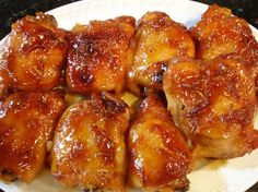 Sweet & Tangy Chicken by syrupandbiscuits; This is a 4 ingredient dish that will become one of your go-to dishes. You can make ahead first thing in the morning up to the point of baking, place in the refrigerator, then just pop in the oven for a little over an hour, add a side and a tossed green salad.  Dinner is served! #Chicken