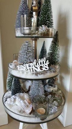 Etagere Weihnachtsdeko.Pin Von Ann Phillips Auf Trays Deko Weihnachten Etagere