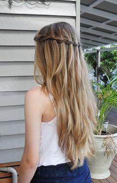 gorgeous waterfall braid