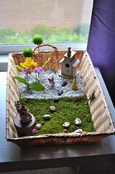 DIY fairy garden - my kids would love this!