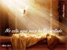 No está aquí, pues ha resucitado, como dijo. Venid, ved el lugar donde fue puesto el Señor.  Mateo 28:6  Celebremos en cada día, que el Señor Jesucristo venció poderosamente a la muerte para darnos salvación.  Señor Jesús, la promesa y esperanza de vivir en gloria contigo la esperamos, por tu poderosa resurrección, amén.