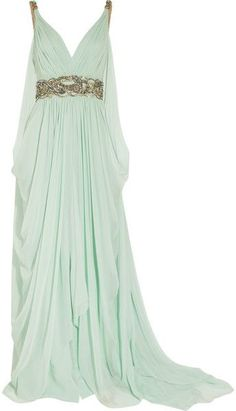Toga dress. If only I was rich enough. So pretty. I would wear this all the time lol Grocery store, book store, doctors appointments, the list is never ending really.