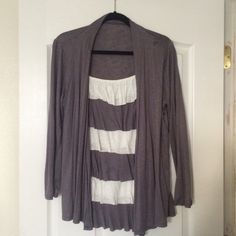 Long sleeve silky jacket Looks like it's a jacket on top of a blouse.. Seen together.. Feels wonderful Annabelle Tops