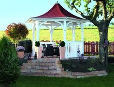 Skan Holz -Start - Collection of garden sheds Versailles, Gazebo, Outdoor Structures, House Design, Garden Sheds, Collection, Environment, Patio, Wooden Pavilion