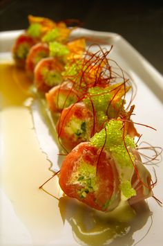 A beautiful sushi arrangement by one of Big City Chefs' exclusive Chicago dinner party chefs.