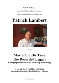 Patrick Lambert: Martinů in His Time – The Recorded Legacy