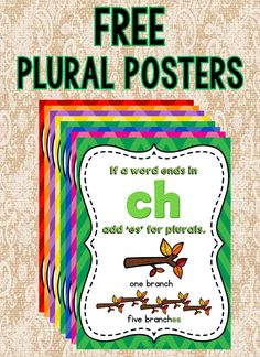 Free Plural Posters - Life and hacks Reading Strategies, Reading Activities, Guided Reading, Teaching Reading, Learning, Reading Resources, 1st Grade Writing, First Grade Reading, Homeschool Kindergarten