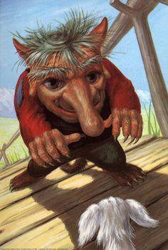 Troll - Three Billy Goats Gruff - Robert Lumley - Ladybird Books