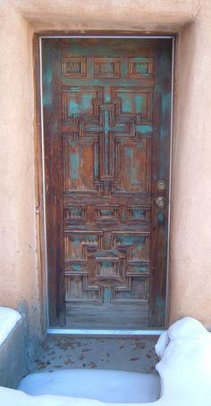 Taos, NM blue door. OMG I LOVE THIS DOOR!