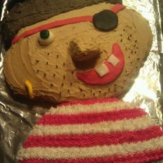 Silly pirate Cake Decorating, Cakes, Desserts, Food, Tailgate Desserts, Deserts, Cake Makers, Kuchen, Essen