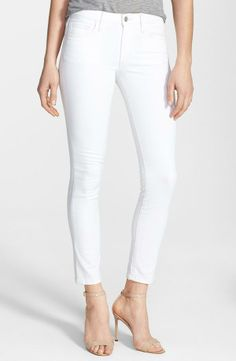 White Stretch Skinny Jeans ~ a must for spring and summer!