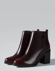 Stradivarius Elasticated high heel ankle boots