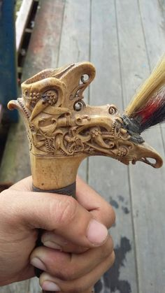 Swords And Daggers, Knives And Swords, Sword Hilt, Indonesian Art, Makassar, Walking Sticks, Borneo, Stone Art, Southeast Asia