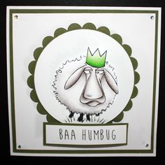 This is the Quirky Baa-Humbug set designed by Sharon Bennett for Hobby Art. Clear set contains 16 Clear stamps. This Stunning card was made by Laura Williams