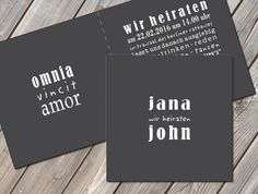 Einladungskarten - Hochzeitseinladung - ein Designerstück von zelka bei DaWanda
