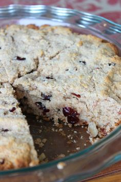 Whole Wheat Cranberry Almond Scones