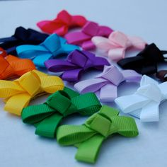 You Pick 5 - Bows for Barely There Hair - Snappie Baby Hair Clips - Baby Girl Bow. $8.75, via Etsy.