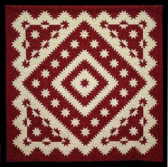 Best Vermont Quilt, Hunter Star Variation in Red by Mara Novak, 2012 Vermont Quilt Festival