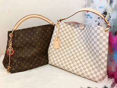 Louie Vuitton Artsy MM and Graceful MM side by side