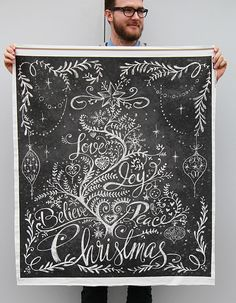 One Yard Tree Hanging Design Challenge Winner: Christmas Tree in Chalk by cynthiafrenette | Flickr - Photo Sharing!