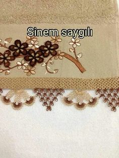 This Pin was discovered by Iğn Needle Lace, Crochet, Needlework, Diy And Crafts, Knitting Patterns, Lace Making, Charts, Embroidered Towels, Lace