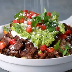 Carne Asada Fries - Carne Asada Fries - beef recipes -beef dinner recipes - snack ideas - snack recipes - tasty - tasty recipes - tasty videos - fries - lunch recipes - baked fries - recipes with beef - Mexican Food Recipes, Beef Recipes, Dinner Recipes, Cooking Recipes, Healthy Recipes, Easy Recipes, Healthy Foods, Alkaline Recipes, Indian Recipes