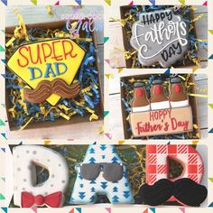 Last day to order Father's Day cookies sets! Sugar Cookie Icing, Royal Icing Cookies, Sugar Cookies, Cookie Baskets, Fathers Day Cake, Gourmet Cookies, Man Cookies, Sweet Bakery, Dad Day