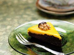 Tryffeltårta med choklad och saffran