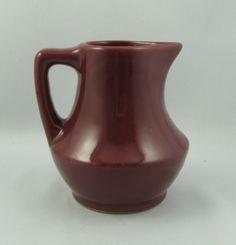 Maroon Glazed Milk Pitcher BEAUCEWARE Pottery Art, Glaze, Milk, Ebay, Enamel, Enamels