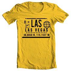 LAS - LAS VEGAS CLEAR PORT T-SHIRT - YELLOW & BLACK #THESTRIP #CASINO #MGM #GAMBLE #SINCITY